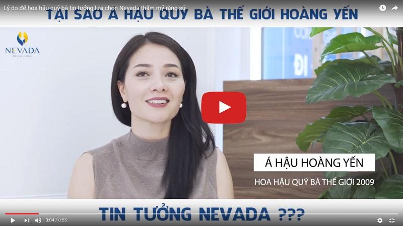 Á Hậu Hoàng Yến đánh giá nha khoa Nevada như thế nào