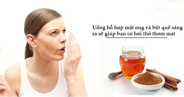 cách chữa hôi miệng bằng mật ong và bột quế siêu