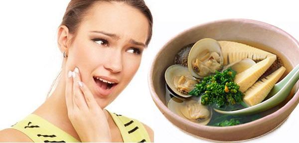 đau răng ăn măng, đau răng có được ăn măng không, đau răng có nên ăn măng